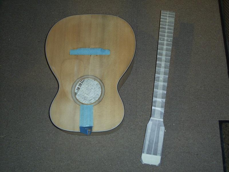 ギター修理 塗装